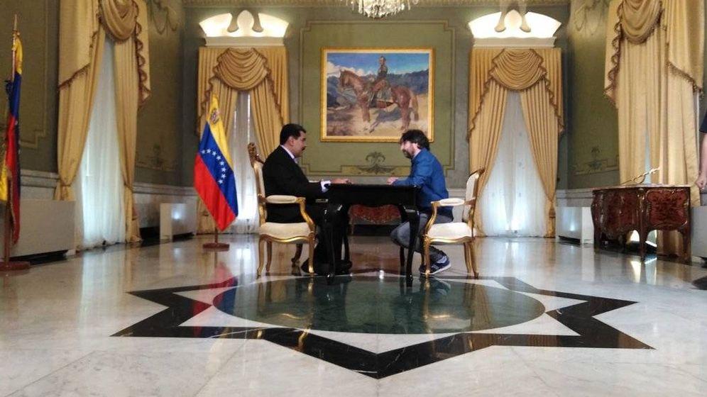 Foto: Imagen de la entrevista de Jordi Évole a Nicolás Maduro. (La Sexta)