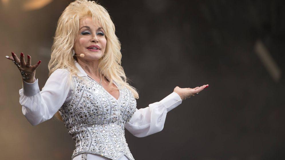 Foto:  Dolly Parton, en Glastonbury. (Getty)