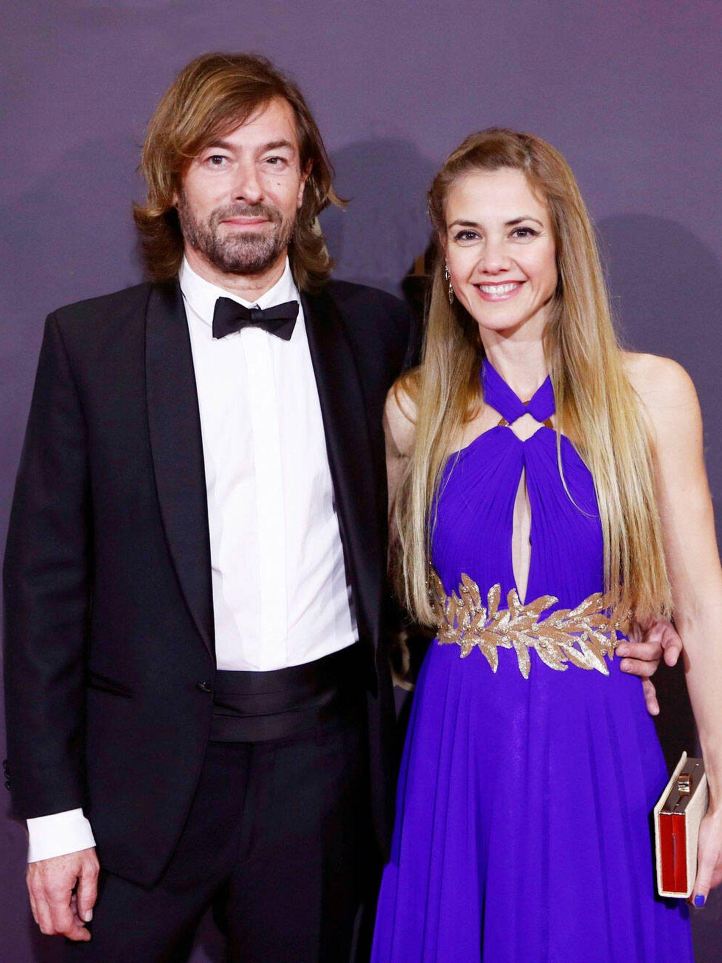 Santiago Pedraz con Silvia Córdoba en una fiesta del año 2019.(EFE)