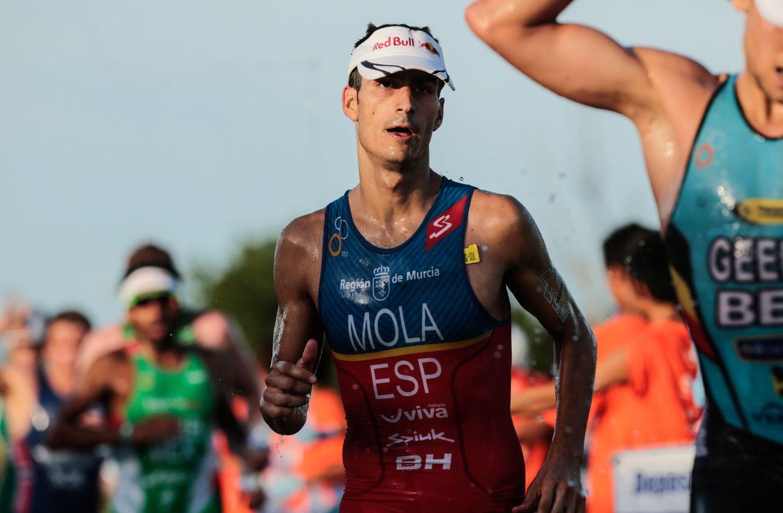 Foto: Mario Mola, en la carrera a pie de Cozumel (Víctor Ruíz/EFE).