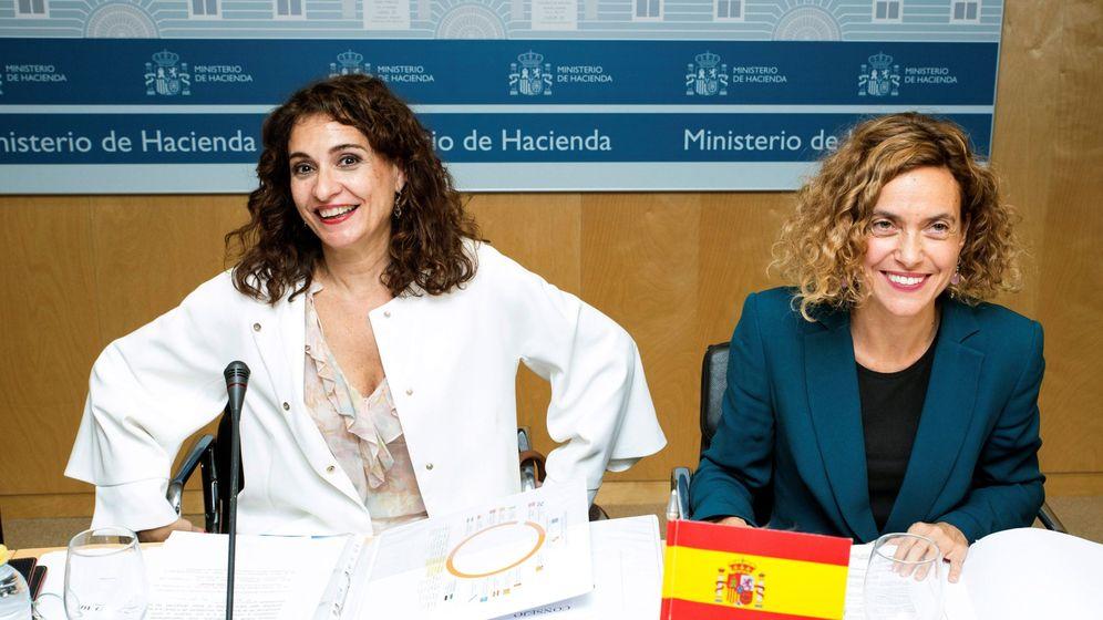 Foto: Las ministras de Hacienda, María Jesús Montero, y de Política Territorial, Meritxell Batet, presiden el CPFF. (EFE)