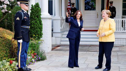Un desayuno y dos líderes, las poderosas imágenes de Kamala Harris y Angela Merkel