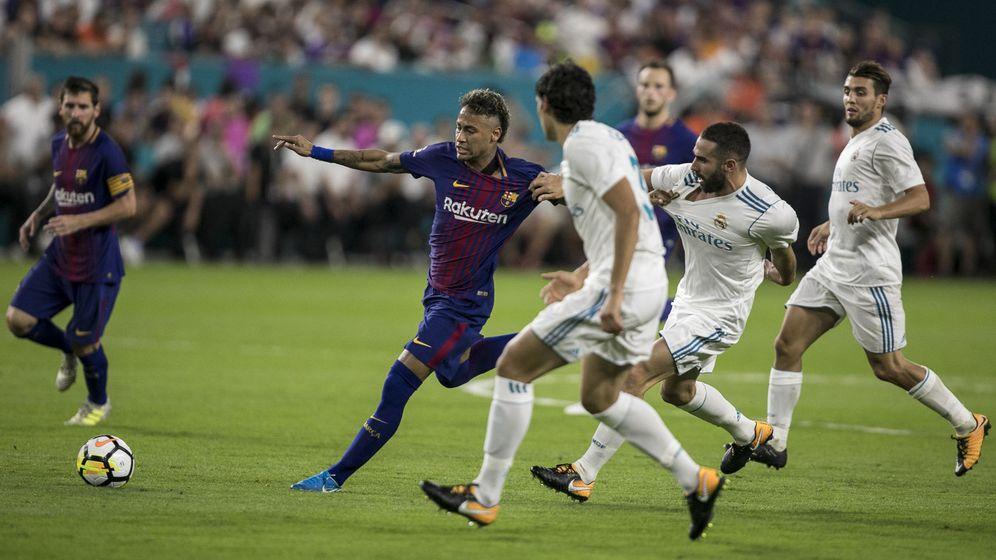 Foto: El Madrid y el Barcelona jugaron en Miami un amistoso. (EFE)