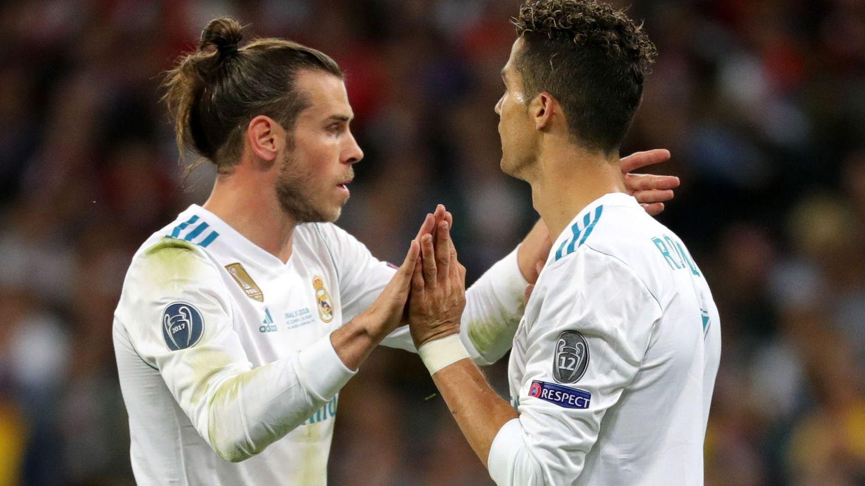 Bale y Cristiano celebran el 2-1 del Real Madrid, obra del galés. (Reuters)