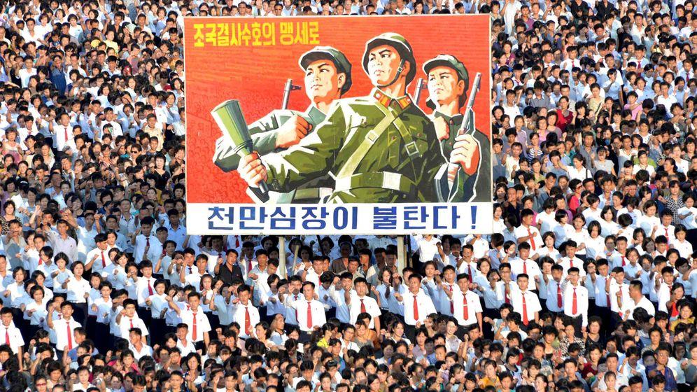 Foto: Desfile en Pyongyang en apoyo del plan de misiles contra Guam, el 9 de agosto de 2017. (Reuters)