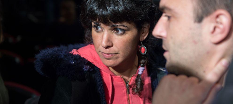 Foto: La candidata de Podemos a la Junta, Teresa Rodríguez, Luis Alegre, uno de los promotores del partido. (Daniel Muñoz Guerrero)
