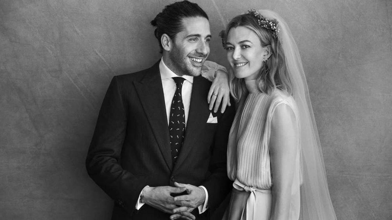 Carlos Torretta y Marta Ortega, en su boda. (Peter Lindbergh)
