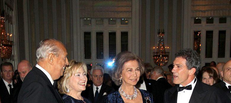 Foto: Antonio Banderas y Hillary Clinton reciben el premio Queen Sofía
