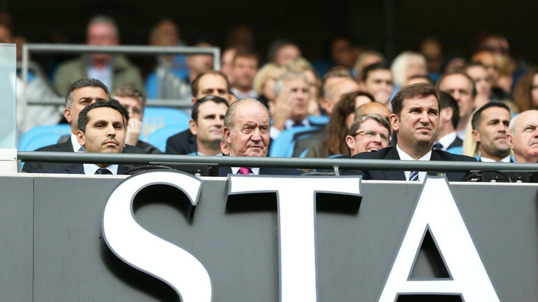 Foto: El Rey Juan Carlos en la tribuna del Manchester City