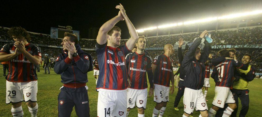 Foto: Los jugadores de San Lorenzo de Almagro celebran su pase a la final de la Libertadores (EFE).