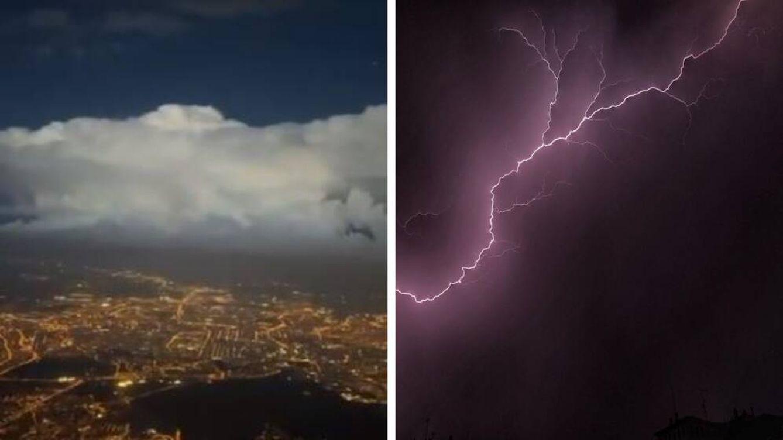 La tormenta vista desde el cielo: las fotos y vídeos que deja el chaparrón del miércoles