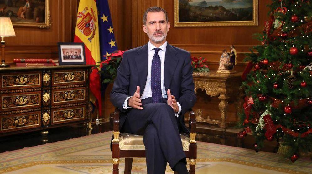 Foto: Fotograma del discurso del rey Felipe VI. (RTVE)