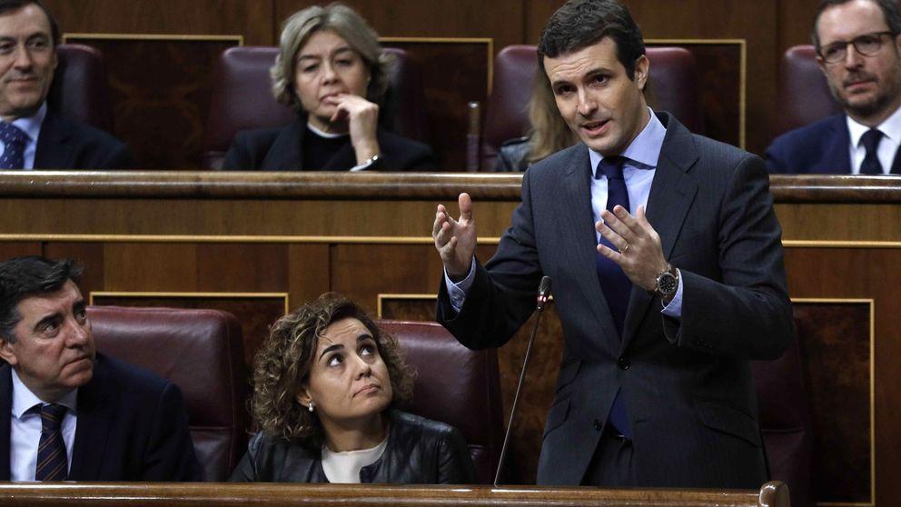 Casado acusa a Sánchez de implorar a Torra, un político que busca derramar sangre