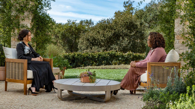 Meghan, durante su entrevista con Oprah. (Reuters)