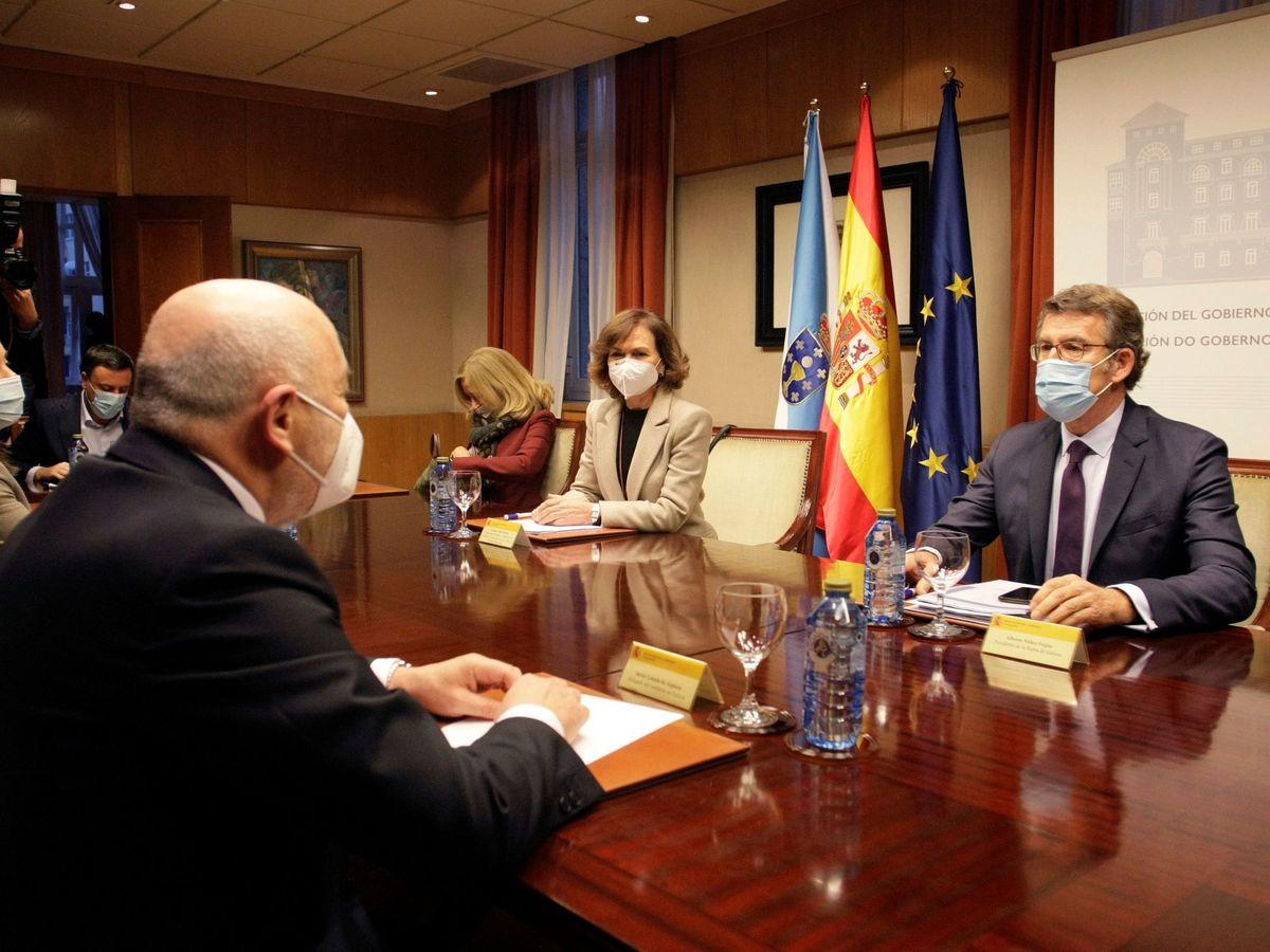 Foto: Calvo se reúne con responsables de las administraciones implicadas en la recuperación del Pazo de Meirás. (EFE)