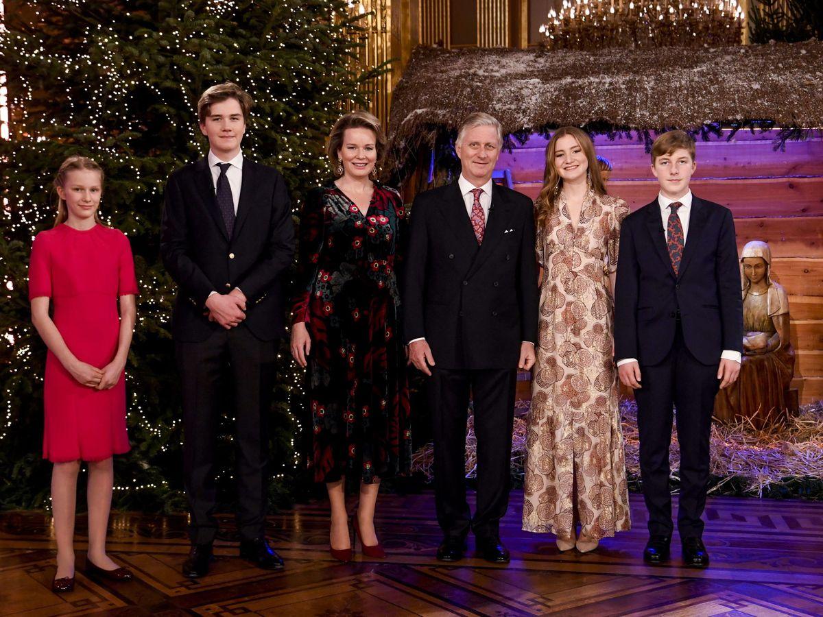Foto: La familia real belga, en el concierto navideño. (EFE)