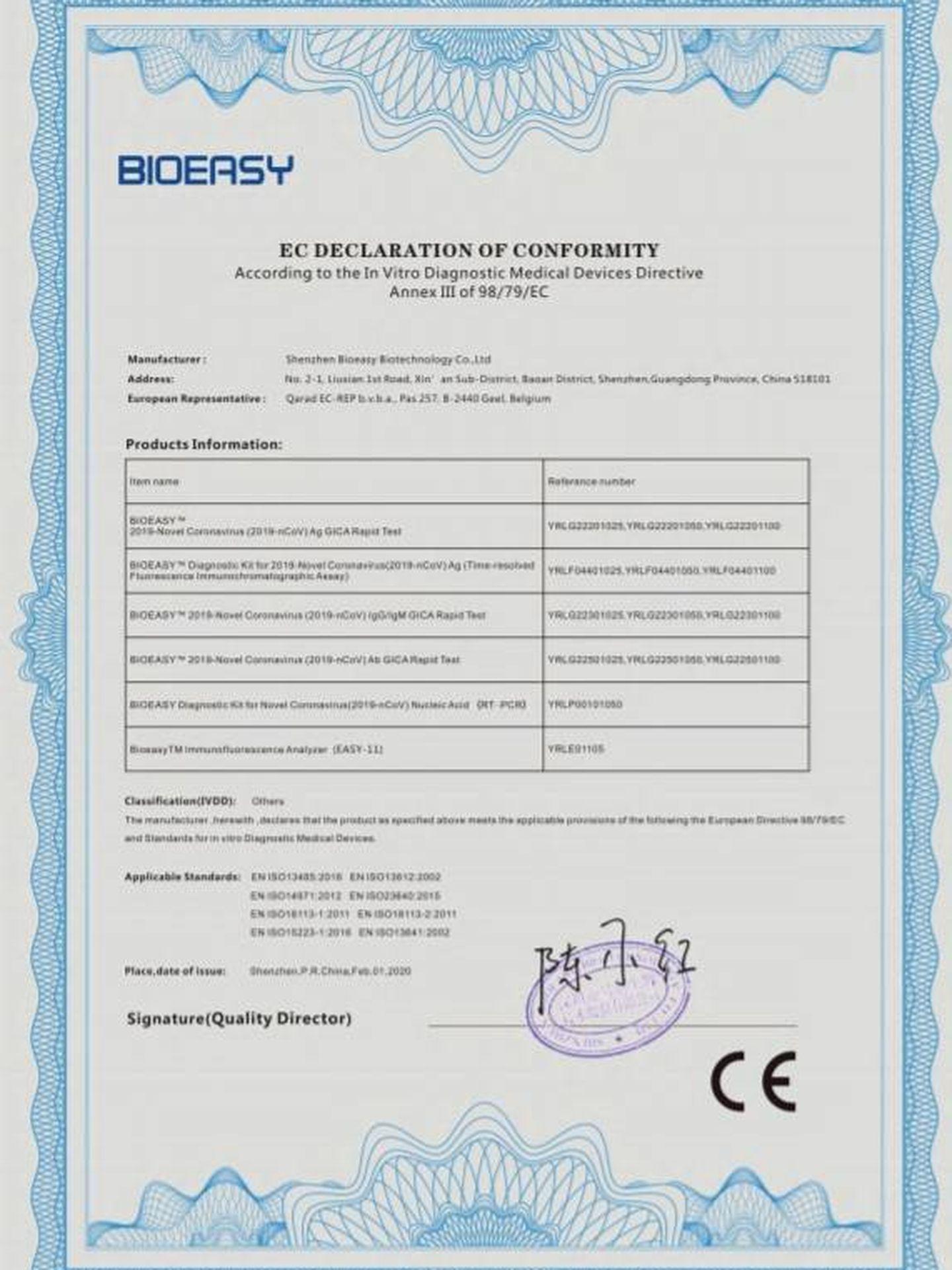 Consulte aquí en PDF la documentación aportada por el Ministerio de Sanidad sobre los test rápidos de diagnóstico del Covid-19.