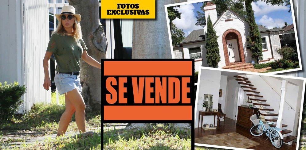Foto: Marta Sánchez y su casa de Miami, en un fotomontaje elaborado por Vanitatis.