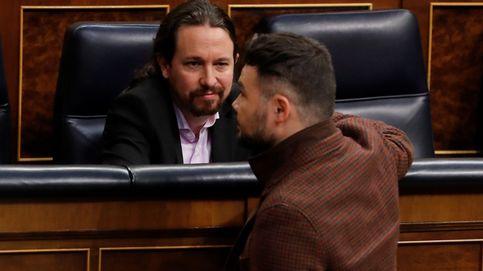 Iglesias y Rufián almuerzan juntos para restablecer la relación entre UP-ERC