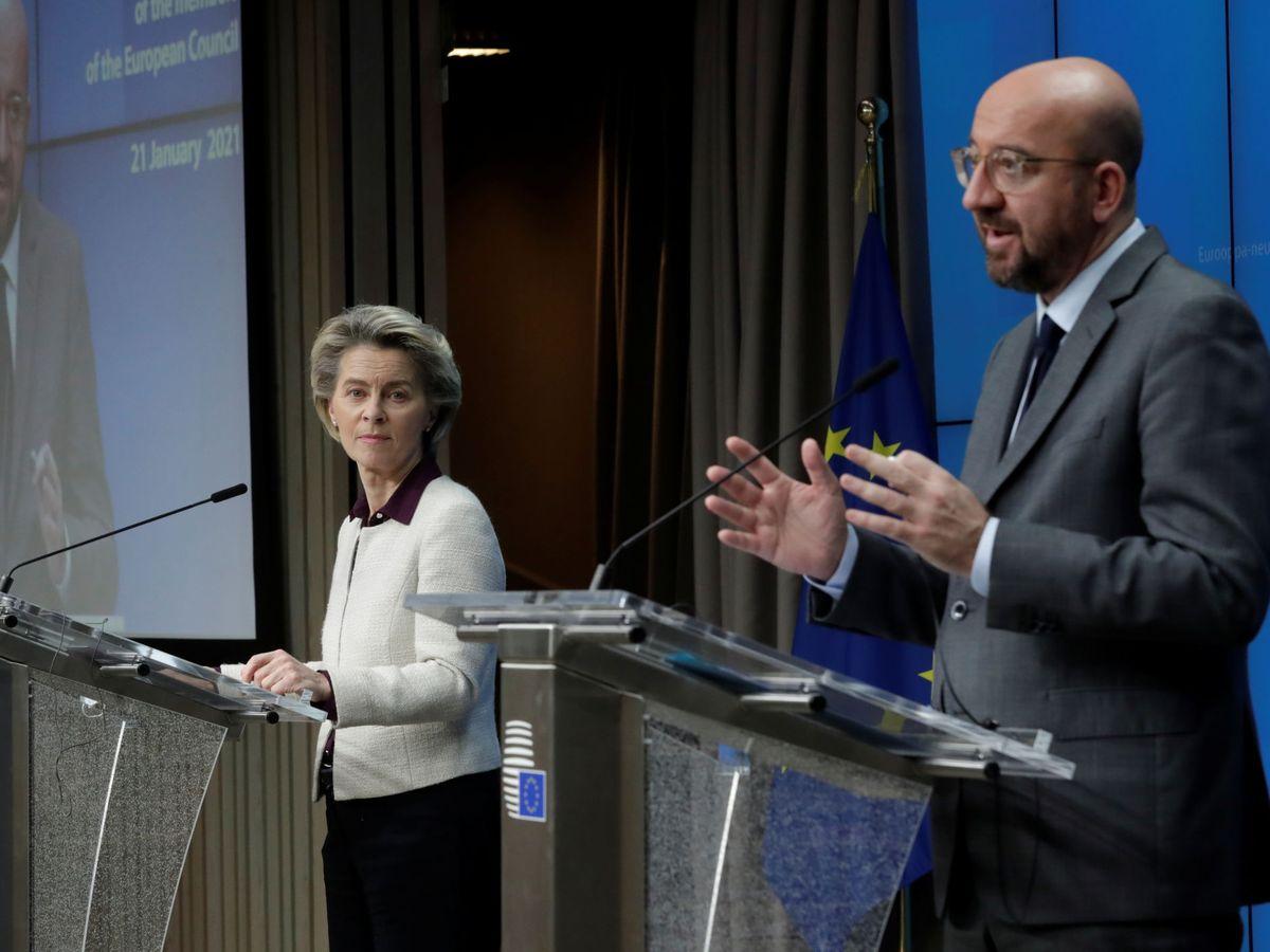Foto: La presidenta de la Comisión Europea, Ursula von der Leyen (izq.), y el presidente del Consejo Europeo, Charles Michel. (Reuters)