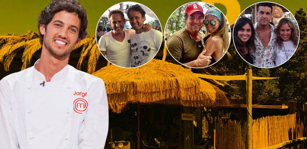 Foto: Jorge Brazalez, el Beso Beach y los famosos que lo frecuentan en un fotomontaje elaborado por Vanitatis.