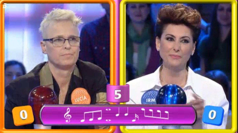 Lucía Dominguín e Irma Soriano, en 'Pasapalabra'. (Mediaset España)