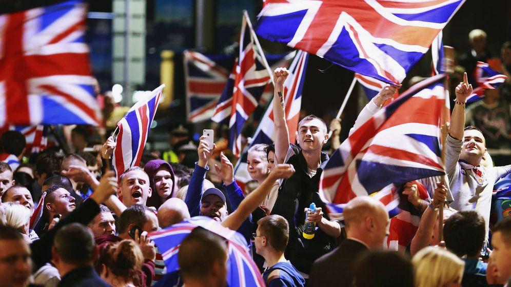Foto: Manifestantes contrarios a la independencia de Escocia durante una protesta en Glasgow, el 19 de septiembre de 2014. (Reuters)