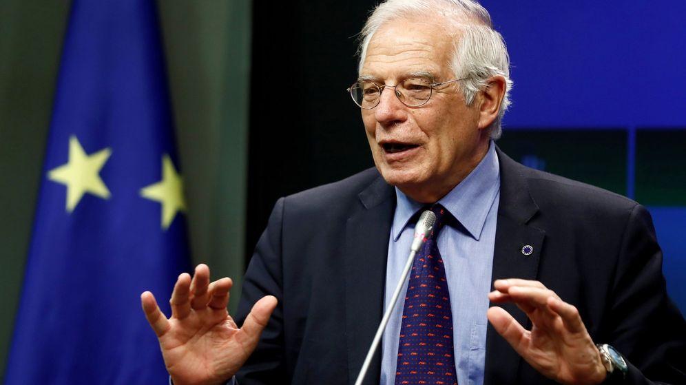 Foto: Rueda de prensa de Josep Borrell. (EFE)