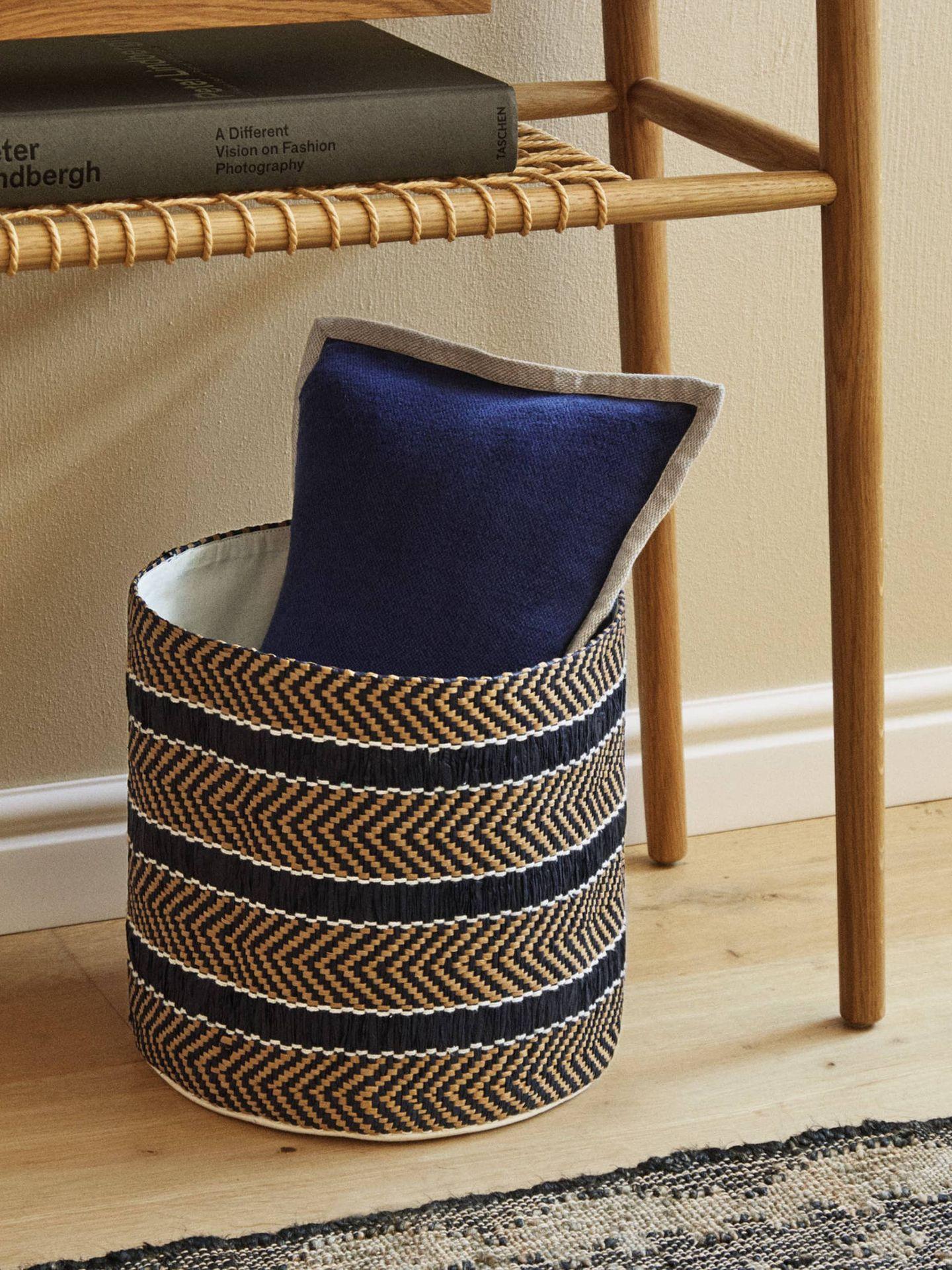 Estas cestas de Zara Home son perfectas para la decoración de tu salón. (Cortesía)