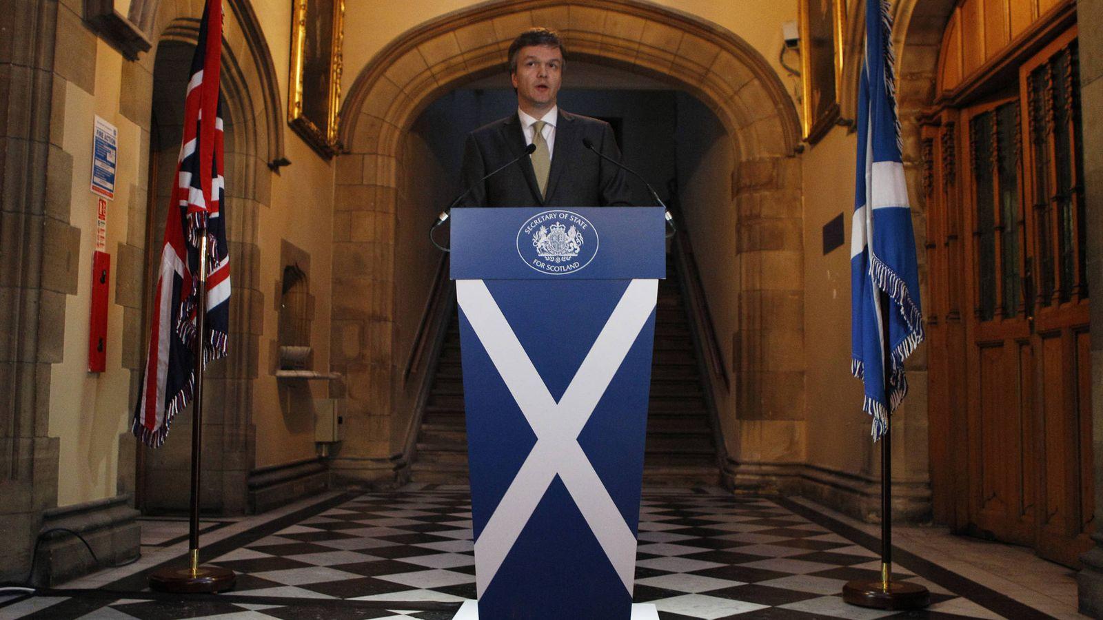 Foto: El ministro de Reino Unido para Escocia durante el referéndum de 2014, el liberal Michael Moore. (Reuters)