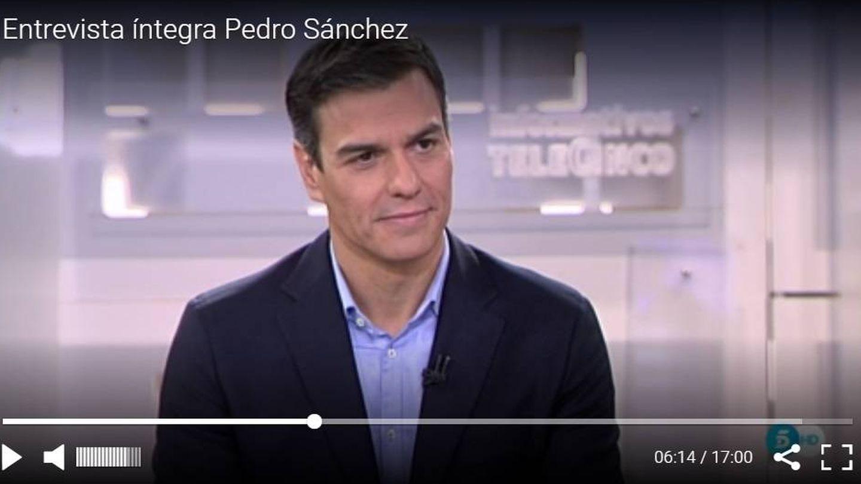 Pincha aquí para ver la entrevista íntegra de 'Informativos Telecinco' a Pedro Sánchez.