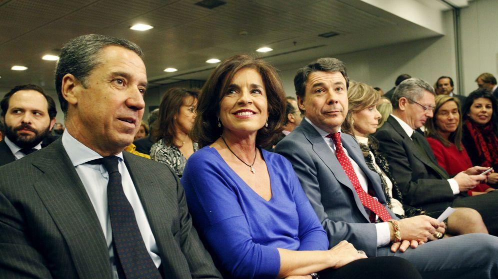 Foto: Eduardo Zaplana, Ana Botella e Ignacio González.