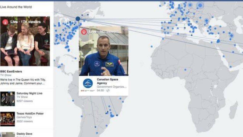Mapa con los Live de Facebook