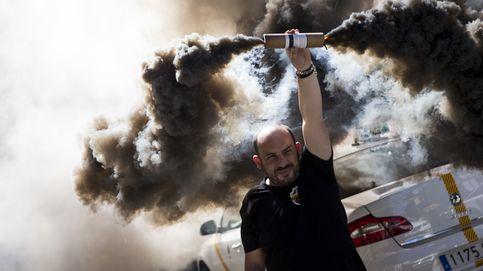 Protesta de taxistas en Barcelona