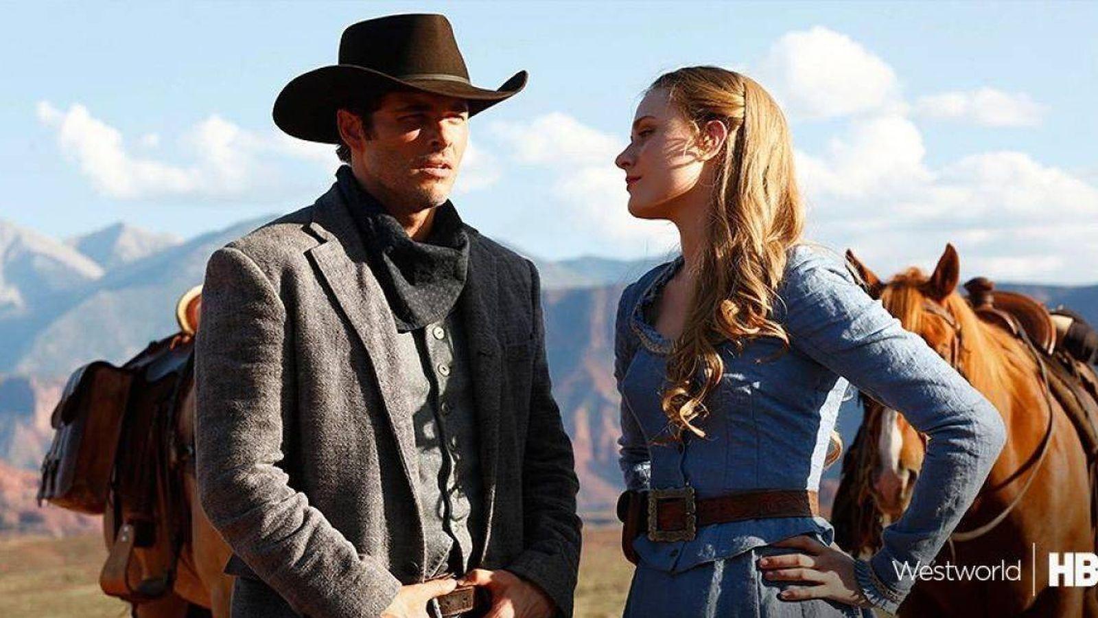 Foto: James Marsden y Evan Rachel Wood en 'Westworld'
