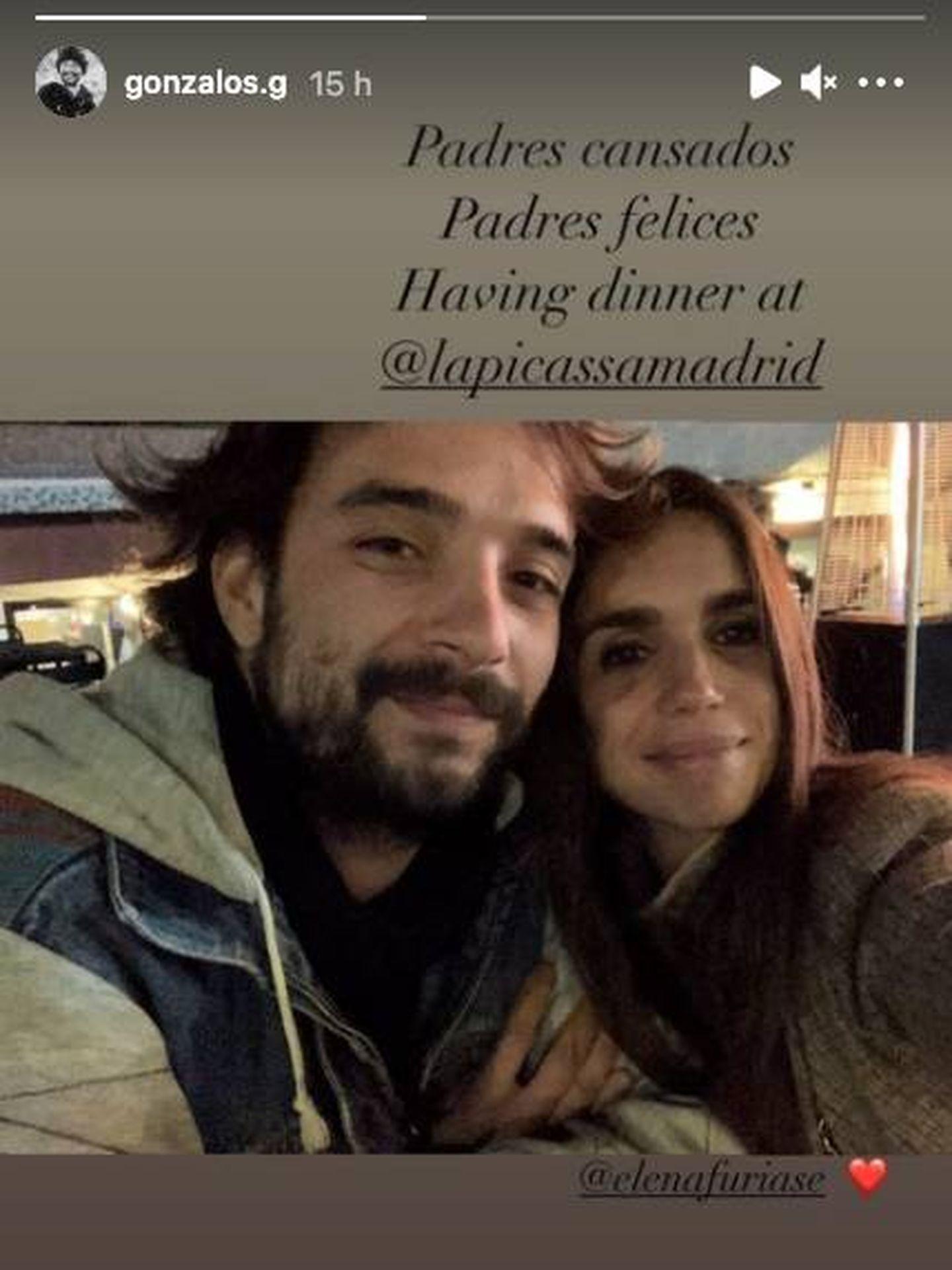 Gonzalo y Elena, de cena. (IG @gonzalos.g)