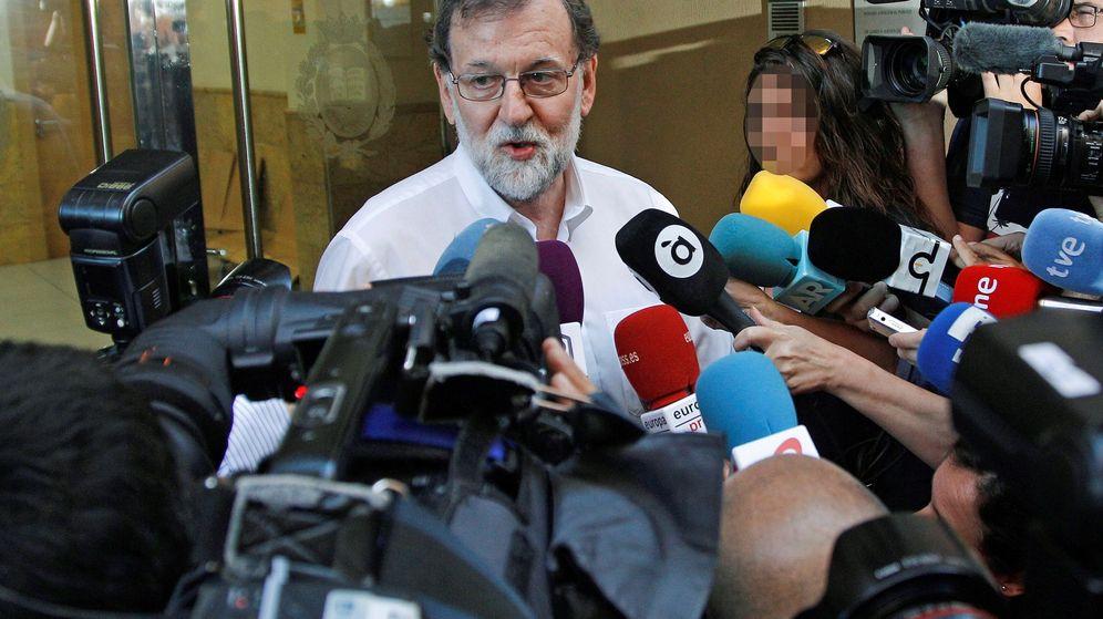Foto: El expresidente del gobierno Mariano Rajoy se incorpora a su plaza como registrador de la propiedad.