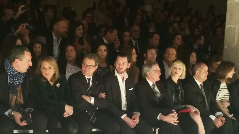 Jaime de Marichalar, Artur Mas y su esposa, Helena Rakosnik, el vicepresidente de Mango, Jonathan Andic, y el alcalde de Barcelona, Xavier Trias