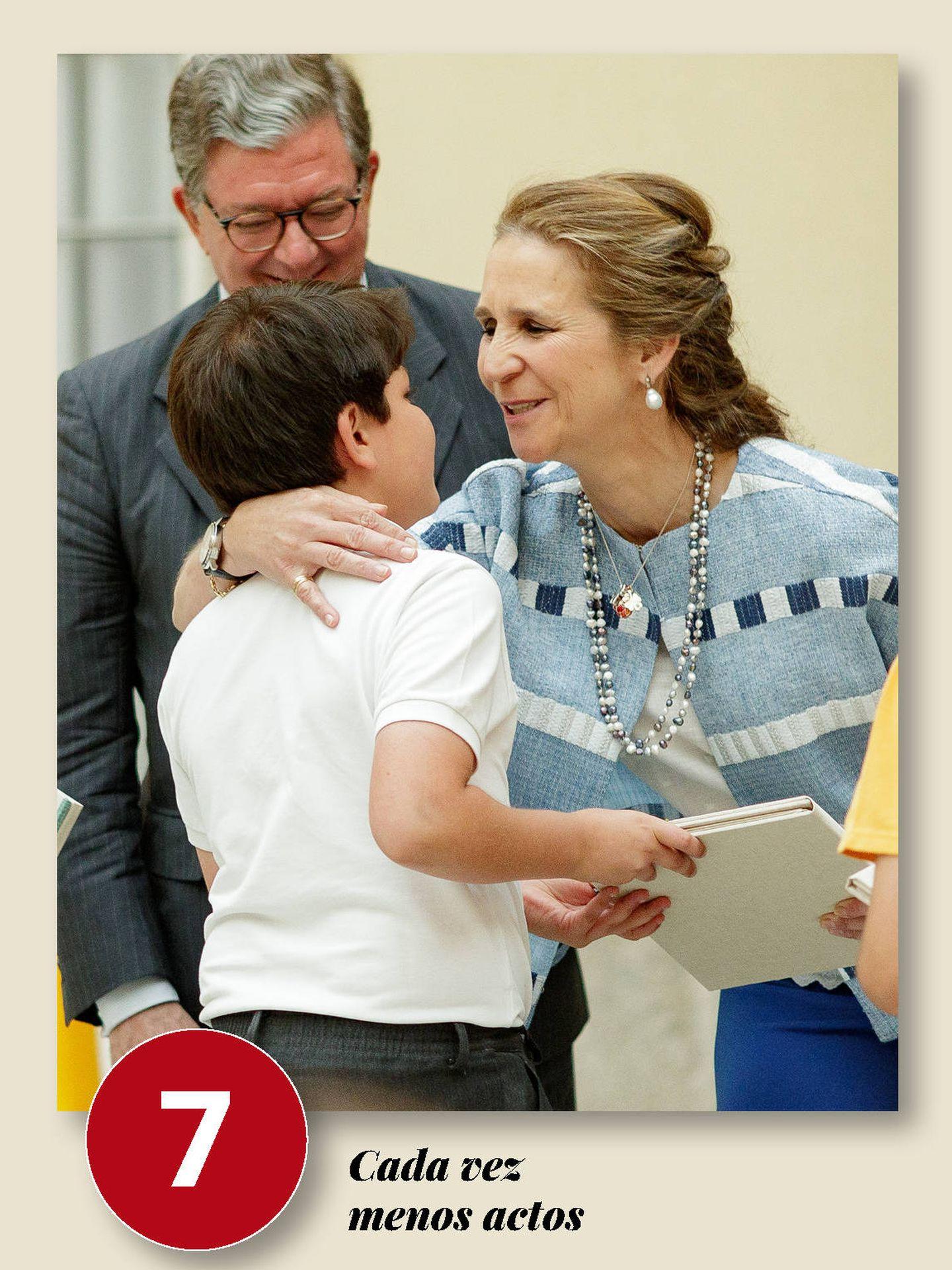 Elena, en un acto en El Pardo. (Getty)