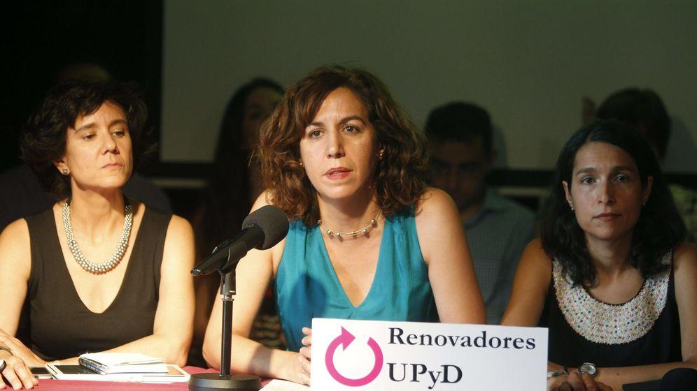 Foto: Irene Lozano (C), durante la presentación de la candidatura Renovadores UPyD el pasado mes de julio. (EFE)
