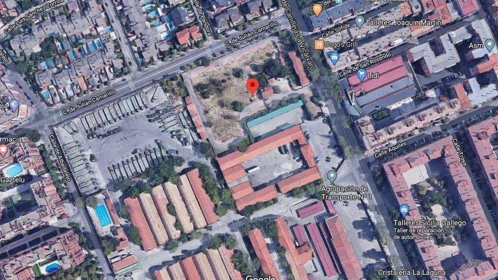Foto: Solar a subasta en Madrid.