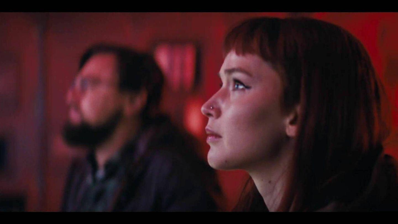 Lawrence y DiCaprio, en 'Don't look up'. (Netflix)