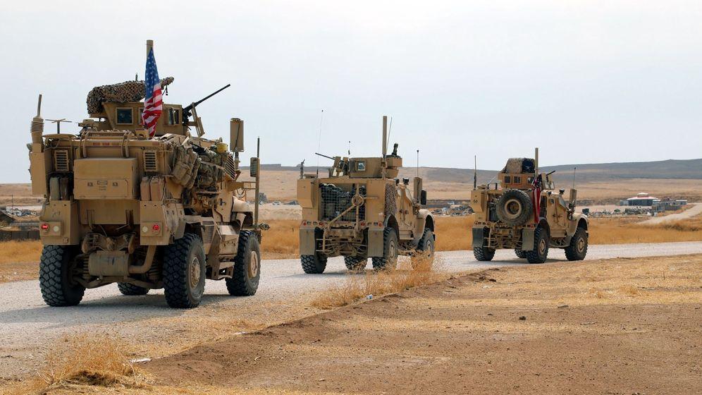 Foto: Foto de archivo de un convoy de tropas estadounidenses en la frontera con Iraq. (EFE)