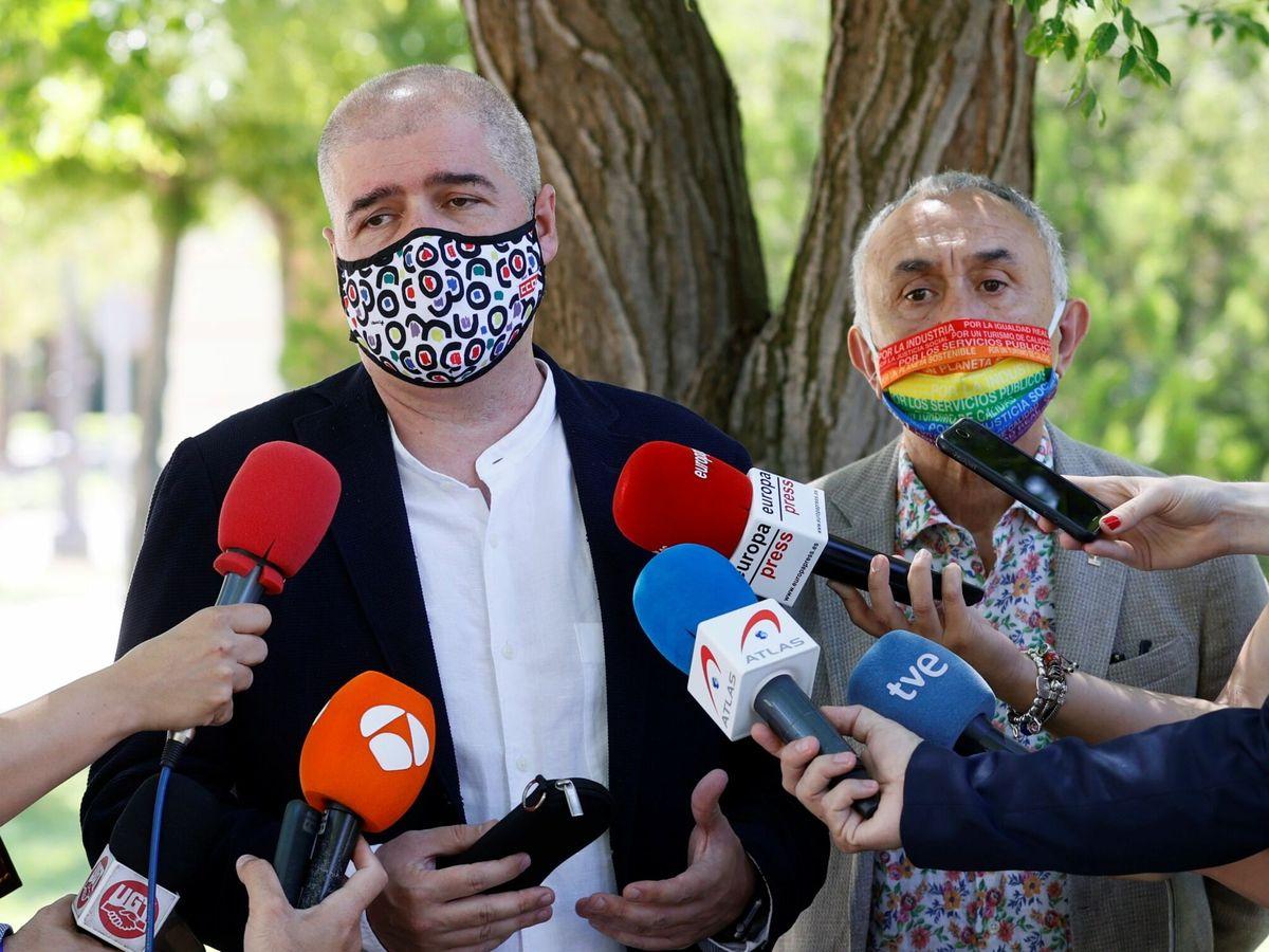 Foto: El secretario general de UGT, José María Álvarez Suárez (d), y el secretario general de CCOO, Unai Sordo. (EFE)