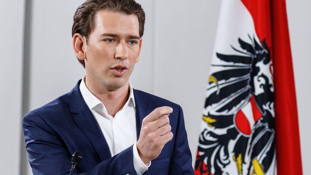 Foto: El ministro de Exteriores de Austria y líder del OPV, Sebastian Kurz. (Efe)