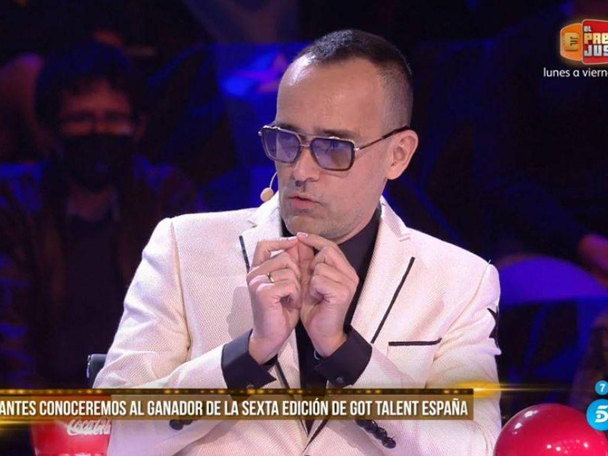 Foto: Risto Mejide, en 'Got Talent'. (Mediaset España)