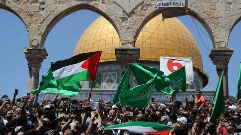 Protesta por el posible desalojo de varias familias palestinas