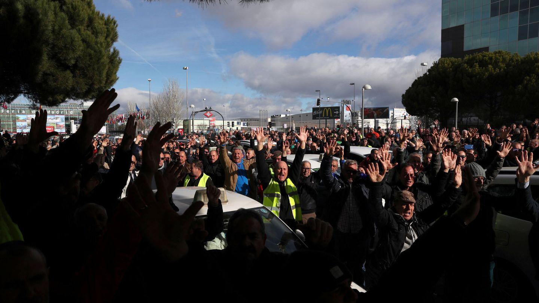 Protestas de los taxistas en Madrid. (Reuters)