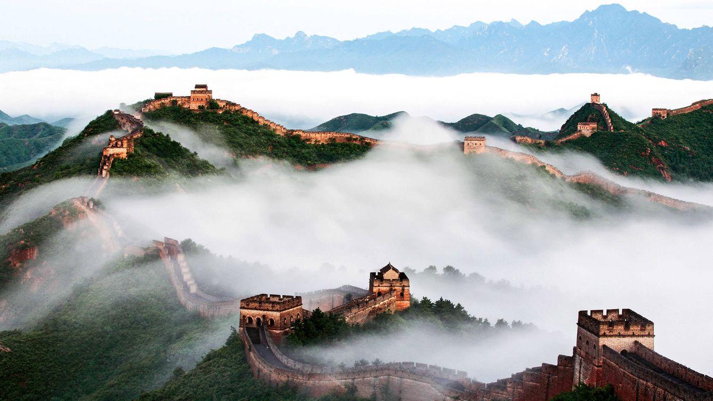 Foto: Vista aérea de la Gran Muralla.