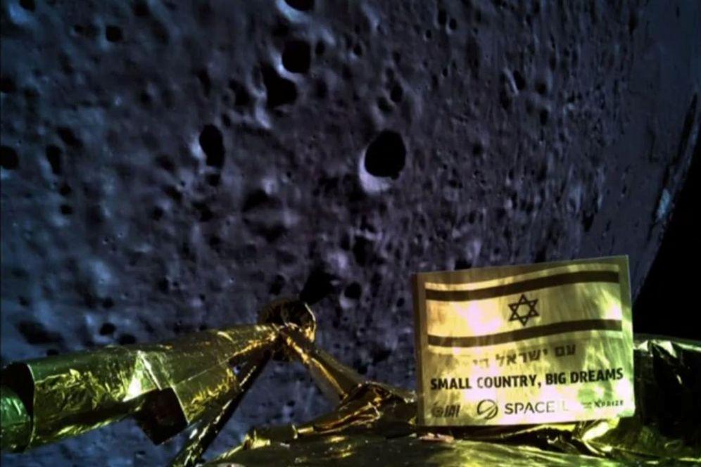 Foto: Una imagen enviada por la nave en su descenso a la Luna, antes de estrellarse. (Reuters)